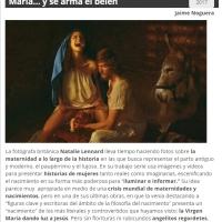 La Virgen María dando a luz