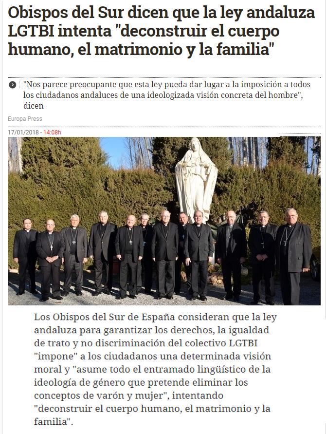 obispos contra gays