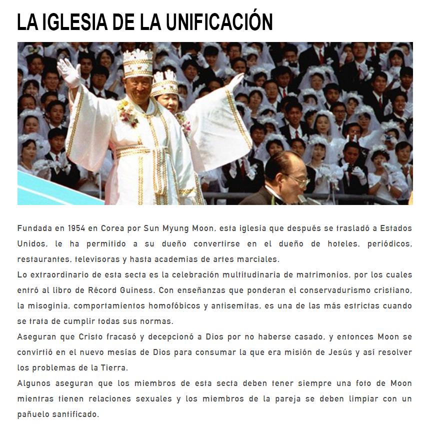iglesia unificacion