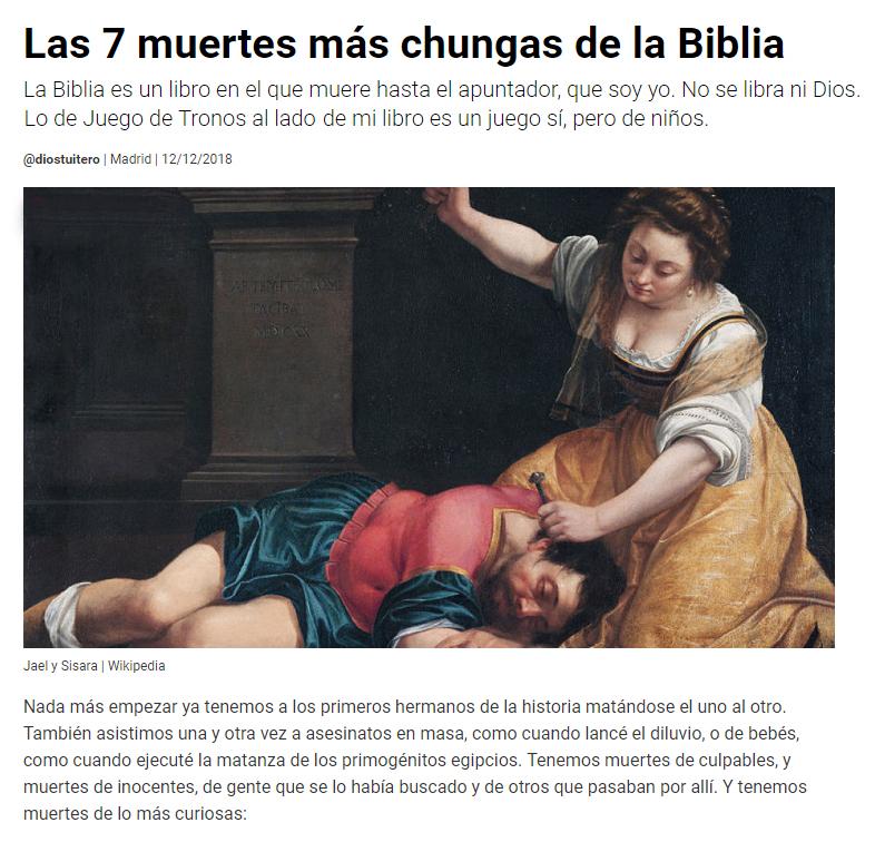 muertes chungas