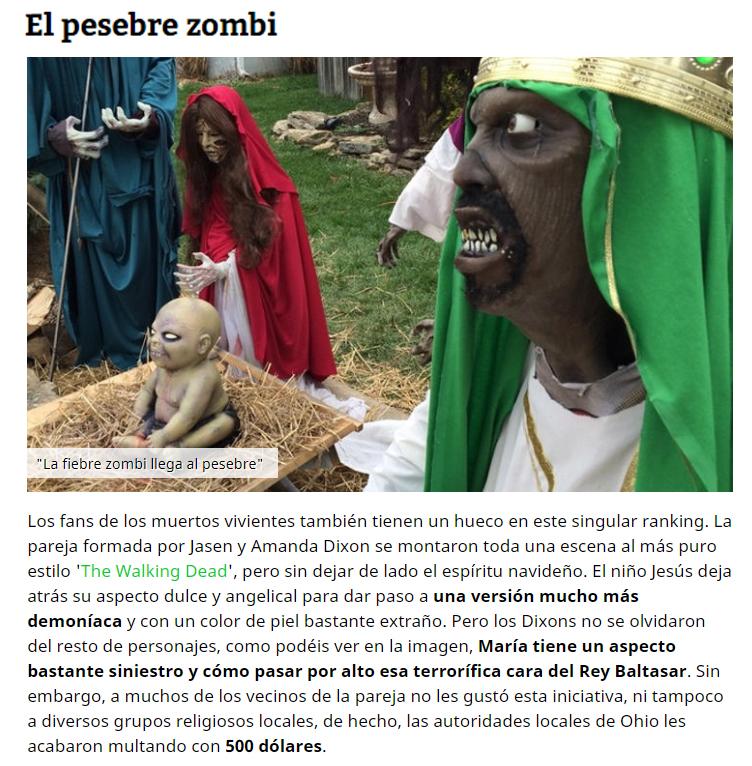 pesebre zombi
