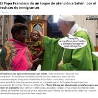El Papa Francisco, Salvini y el rechazo de inmigrantes